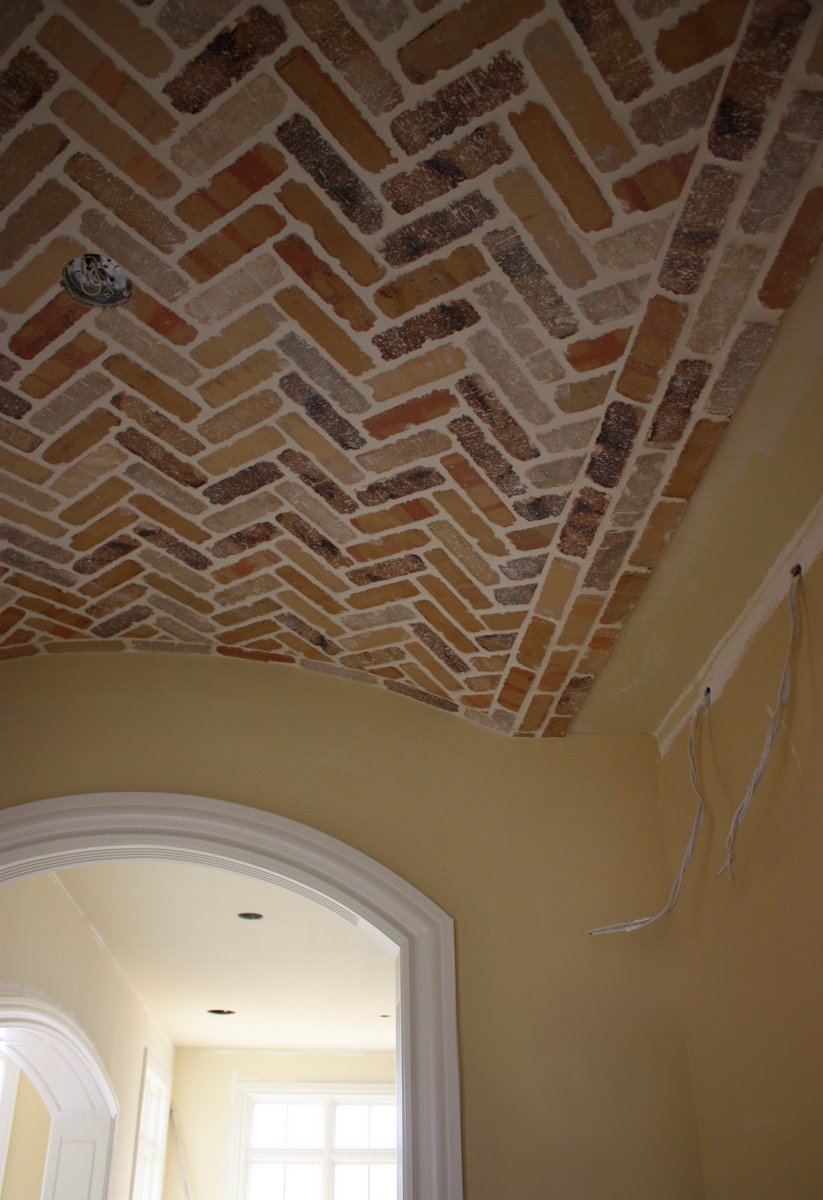 Brick ceiling tiles