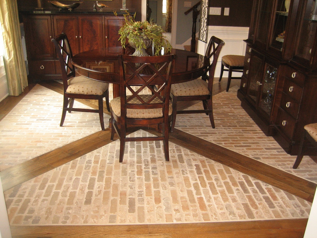 No title for Dining room tile floor designs
